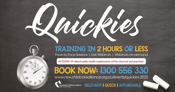 Quickies training in 2 hours or less