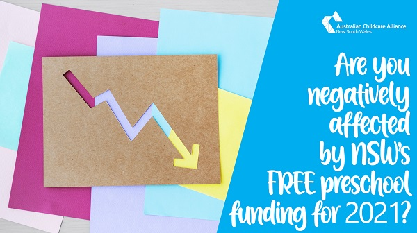 "ATTENTION LDCs: Are you NEGATIVELY affected by the NSW Government's ""free"" community/mobile preschool funding for 2021?"