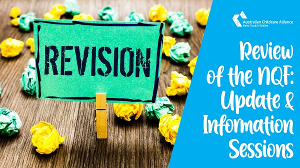 NQF Review: Update & Upcoming Information Sessions