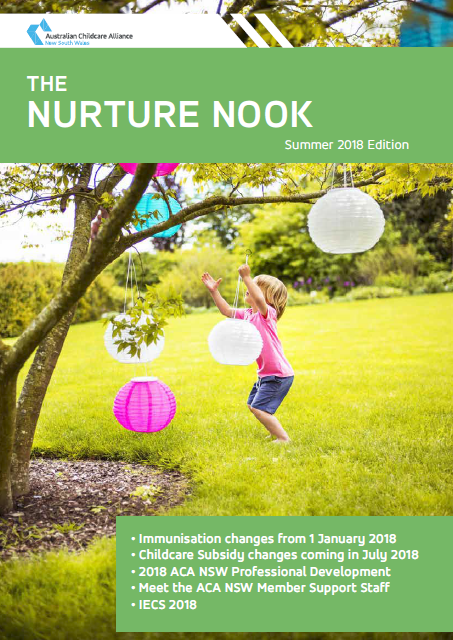 2018 Nurture Nook Summer cover