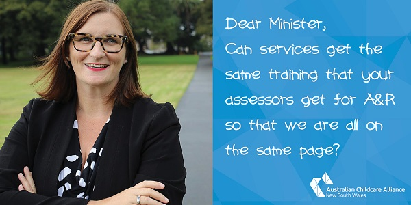 Min Mitchell access to same training as assessors banner