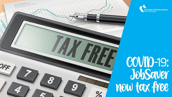 COVID-19: JobSaver is now tax free